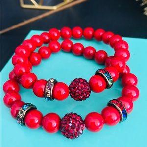 Red Bracelet set.